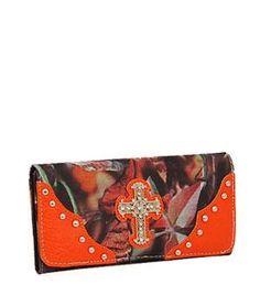 Orange Camo Western Cross Wallet