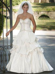 unique wedding dresses   Bridal Wedding Dresses: Unique Ivory Strapless Sweetheart Organza ...
