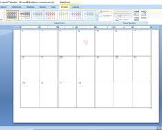 How to Create a Custom Calendar in Word - Calyx & Corolla Custom Calendar, Diy Calendar, Create A Calendar, Time Management, No Time For Me, Purpose, Organization, Words, Design