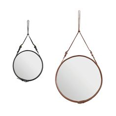 Shop SUITENY for the Adnet mirror designed by Jacques Adnet, Gubi, and more designer mirrors, leather mirrors, round mirrors and designer accessories