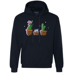 Cat + Cactus Unisex Heavyweight Pullover Fleece Sweatshirt