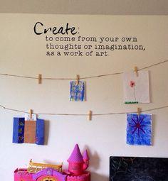 Create. Kids Art Wall Vinyl Decal. by WelcomingWalls on Etsy, $18.00