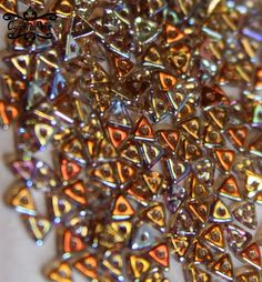 NEW TriBeads  Crystal Brown Rainbow  98532 by CzechLaVie on Etsy