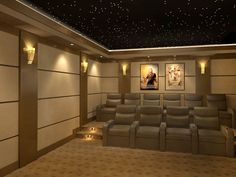 50 Basement Home Theater Design Ideas to enjoy your movie time with family and friends – GODIYGO.COM Basement home theater design ideas to enjoy your movie time with family and friends 16 Home Theater Decor, At Home Movie Theater, Best Home Theater, Home Theater Speakers, Home Theater Rooms, Home Theater Seating, Home Theater Projectors, Home Theater Design, Home Decor