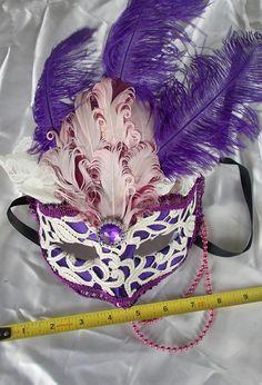 Purple Victorian Fairy Princess Mask by MaLadyMasks on Etsy, $32.00