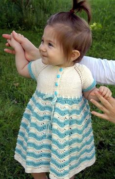 Sunday Best Baby Dress | This knit baby dress is so cute.