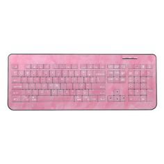Swirly Ice Pink Wireless Keyboard - cool gift idea unique present special diy