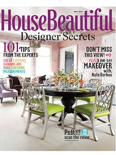 May 2012 cover. housebeautiful.com. #house_beautiful #magazine_cover #may_2012