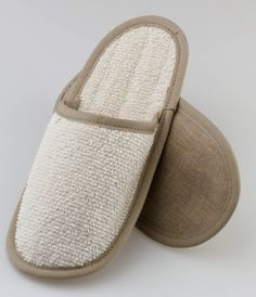 Linen:  slippers Sauna Accessories, Pool Slides, Slippers, Sandals, Shoes, Fashion, Moda, Shoes Sandals, Zapatos