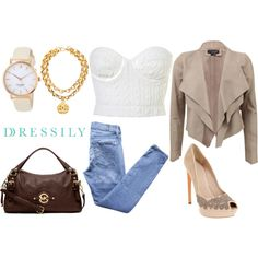 """Neutral tones"" by dressilyco on Polyvore"