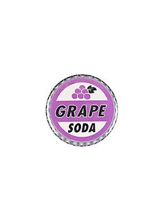 "Small pinback button from Disney-Pixar's Up with a ""Grape Soda"" bottle cap design."