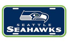 Brand New Seahawks Plastic License Plate! Green background with the Seahawks logo and wordmark in the middle. Fits most cars and trucks. Size-6 inches tall and 12 inches across. Officially licensed pr