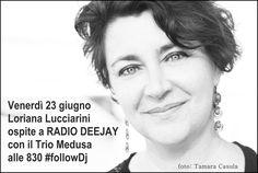 23 giugno 2017 – Loriana Lucciarini ospite a RadioDeejay nella trasmissione del Trio Medusa #FollowDj per parlare di «4 Petali Rossi, frammenti di storie spezzate» Diretta radiofonica 8:30, in segu…