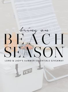 A giveaway where you can win everything needed for the perfect beach day? Great. When all those items are clean, coastal and perfectly coordinate? Even better. Check out this giveaway by @Shoplordandlady.