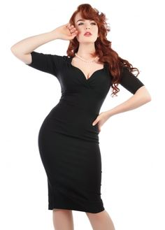 63db8d73f7b4 Collectif Clothing Trixie Pencil Dress Vintage Pencil Dress, Black Pencil  Dress, Vintage Dresses,
