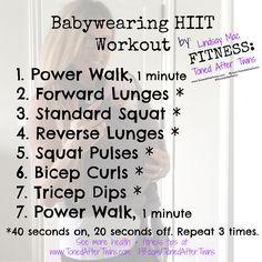 babywearing workout