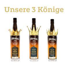 Welches sind deine 3 Könige? Wir konnten uns nicht so ganz entscheiden ..... somit haben wir 6 Könige :-) - which are your 3 kings? we could not decide ... thus we have 6 kings :-) Whisky, Cleaning Supplies, Cocktails, Soap, Dishes, Bottle, Craft Cocktails, Whiskey, Cleaning Agent