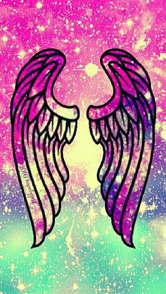 Angel wings galaxy iPhone/Android wallpaper I created for the app CocoPPa. 2016hisonlygirl™