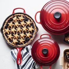 Blueberry Skillet Pie | Williams Sonoma Star Cookie Cutter, Lemon Ice Cream, Star Cookies, Thing 1, Dessert Recipes, Desserts, Dessert Ideas, Fresh Lemon Juice, Williams Sonoma