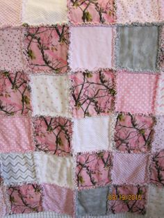 Handmade Baby Rag Quilt C2 Camo by SBCountryCreations on Etsy