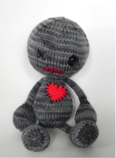 """knittomania: """" So cute. Pattern here http://www.ravelry.com/patterns/library/voodoo-you-love-me """""""