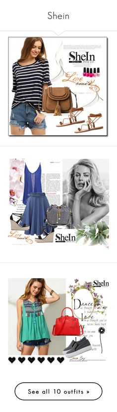 """""""Shein"""" by aida-1999 ❤ liked on Polyvore featuring WithChic, OPI, Victoria's Secret, WallPops, Eric Javits, Mansur Gavriel and Chanel"""