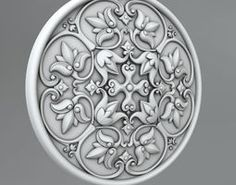 cornce decorate 3D model Carved Rosettes Medallions Carving, Architecture, Antiques, Model, 3ds Max, Rosettes, Knob, Arquitetura, Antiquities
