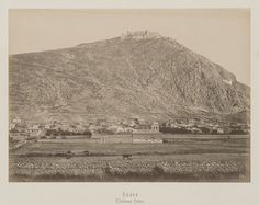Argos, Péloponnèse. Colline de Larissa.                     Forteresse © Musée Guimet, Paris, Distr. Rmn / Image Guimet Argos, Art Asiatique, As Time Goes By, Greece, Vintage World Maps, Images, Photos, History, Memories