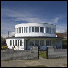 The Round House - Frinton Park Estate circa 1935.The original show home. Frinton on Sea, Essex. UK.