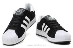 low priced 054bd 3cf3d Baratas Adidas Superstar II Negro Blanco Tenis, Blanco, Negro, Adidas  Originales, Zapatillas