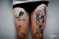 充滿詩意的插畫式刺青,以身體為畫布的藝術   FLiPER MAG