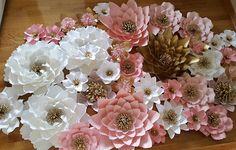 Papier bloem achtergrond, Baby douche achtergrond, prinses thema verjaardag decor, achtergrond van de bruiloft, bruiloft bloem muur, bruids douche achtergrond