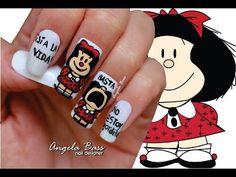 Decoración de uñas araña - Spider nail art - YouTube Nail Designer, Long Acrylic Nails, Cool Designs, Nail Art, Make It Yourself, Makeup, Manicures, Bass, Youtube