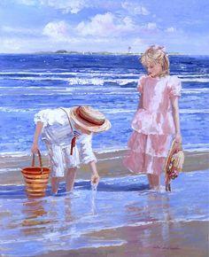 Beach Paintings by Sally Swatland | Cuded