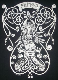 S XL Freya Göttin Rune heidnischen Nordische T-Shirt von TerraWear