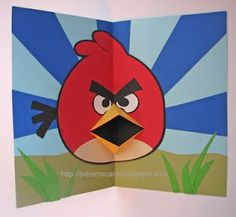 angry birds pop-up card from Extreme Cards and Papercrafting