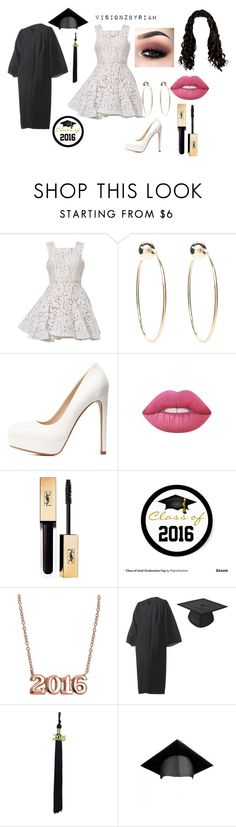 """""""Class of 2016"""" by riahbreezy on Polyvore featuring Alex Perry, Bebe, Charlotte Russe, Lime Crime and Giani Bernini"""