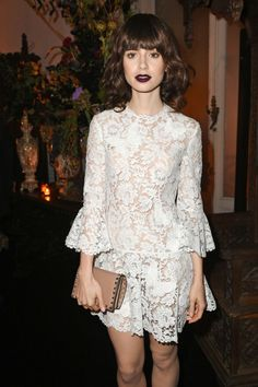 Lily Collins  Valentino After Party in Paris Oct-2016 Celebstills L Lily Collins