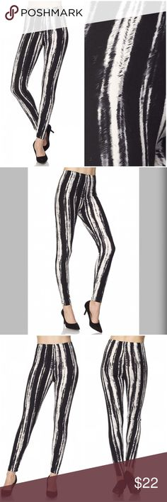 Soft brushed material leggings! 😊 Get cozy with this cute and super soft brushed legging, featured in a tie dye print. With its smooth, comfortable fit. Wear these with a dressy top and a sexy pair of heels for a classy going out look, or an oversized off-the-shoulder top for a casual day ensemble. Paneled elastic waistband. Machine wash. Pants Leggings
