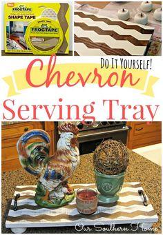 DIY Chevron Wooden Tray
