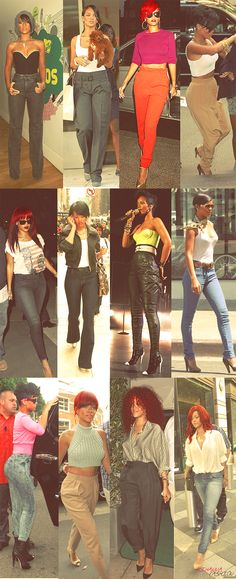 She can rock so many different things. Rihanna Fashion <3...always something new