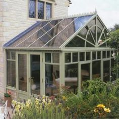Conservatory-we tore down a huge genuine English conservatory- twice as large as… What Is A Conservatory, Conservatory Design, Garden Park, Outside Living, Backyard, Patio, House Extensions, Garden Structures, Glass House