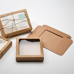 I really like these kraft boxes with windows from clearbag.                                                                                                                                                                                 More