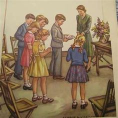 Vintage 1940s Lithograph Poster From Ohio Church Sunday School
