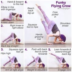 Have you tried this version of Flying Crow? Yoga Inversions, Yoga Handstand, Yoga Sequences, Yoga Poses, Handstands, Hip Out Of Alignment, Flying Pigeon Pose, Ju Jitsu, Stretching