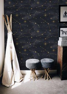 wohnen How Contemporary Office Furniture Can Help Your Business Are you a business owner? Night Sky Wallpaper, Kids Room Wallpaper, Wallpaper Panels, Wallpaper Wallpapers, Wall Wallpaper, Cool Wallpapers Room, Temporary Wallpaper, Wallpaper Designs, Bedroom Wallpaper