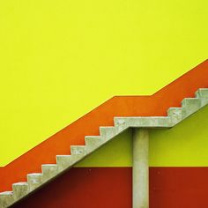 COLOR BERLIN // MATTHIAS HEIDRICH    BERLIN / BRIGHT / COLOUR / CONCRETE / JAGGED / RED / STAIRS / YELLOW / ZIG ZAG