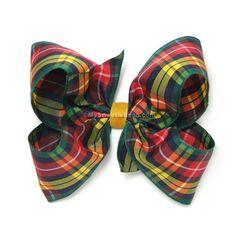 buchanan tartan bow | Buchanan Plaid Hair Bow, Buchanan Tartan Bow, 4 inch Boutique Bow ...