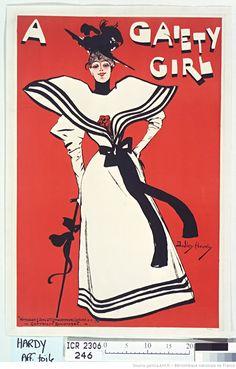 A Gaiety girl : [jeune femme à l'ombrelle] : [affiche] : [affiche] / Dudley Hardy