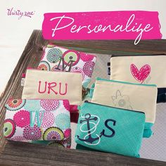 Thirty-One Gifts - Make it personal! Canvas #ThirtyOneGifts #ThirtyOne #JewellByThirtyOne #Monogramming #Organization #MiniZipperPouch www.mythirtyone.com/robynlipe